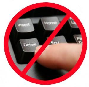 Don't hit delete
