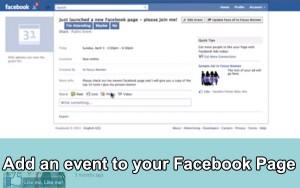 How to add an event to your Facebook Business Page
