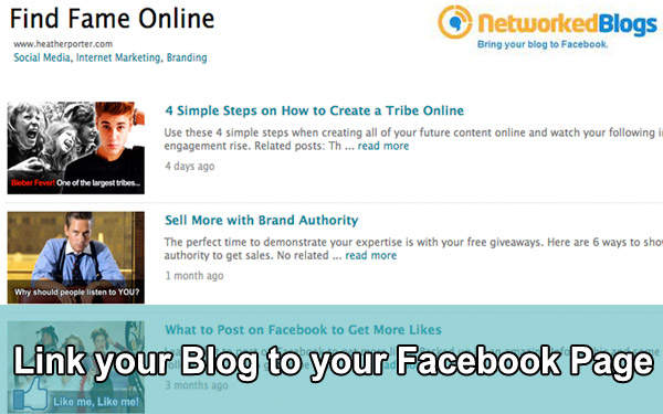Link Your Blog to Your Facebook Page