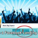 Make a Facebook Landing Page